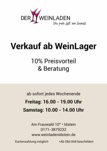 Öffnungszeiten WeinLager